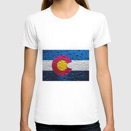 Flag of Colorado - Raindrops T-shirt