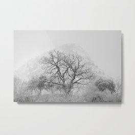 """King Mountain"" Monochrome. Metal Print"