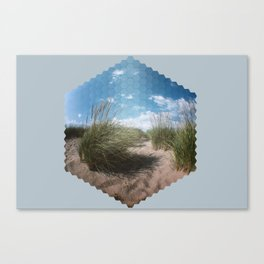 Beach Hexagon Canvas Print