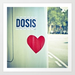Dosis of love in the morning. Art Print