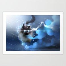 Storm Walk Art Print