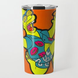 Woo Hoo! - homer pop art painting Travel Mug