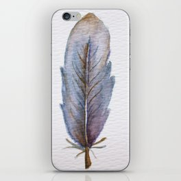 Blue Feather iPhone Skin