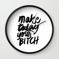 motivation Wall Clocks featuring Motivation by Motivational