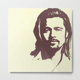 Brad Pitt :) Metal Print