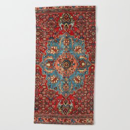 Bidjar Antique Kurdish Northwest Persian Rug Print Beach Towel