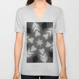 Hearts (from the arches in the Bom Jesus church complex in Old Goa) Unisex V-Neck