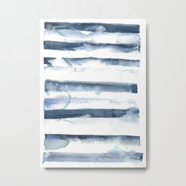 indigo streak Metal Print