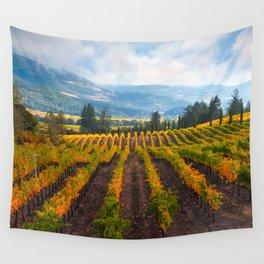 Autumn Vineyard Vista Wall Tapestry