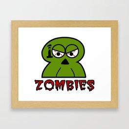 100 Zombies logo Framed Art Print