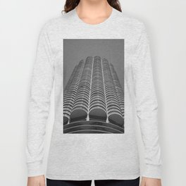 Marina City Tower Photo, Chicago, Architecture Long Sleeve T-shirt