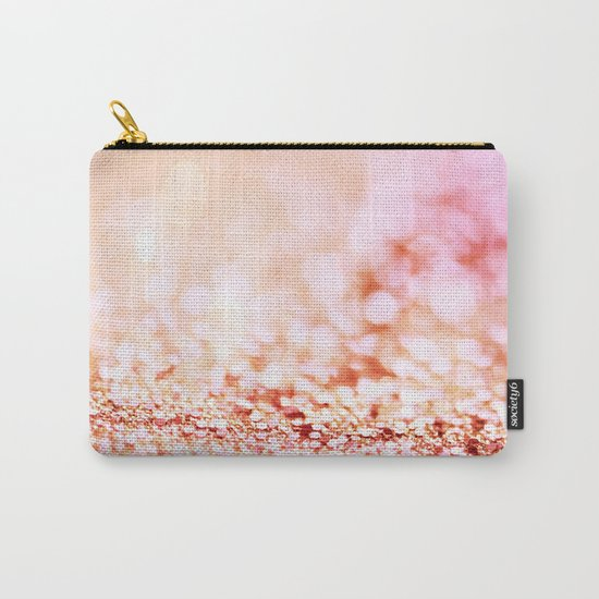 Pink shiny glitter - Sparkle Girly Valentine Backdrop on #Society6 Carry-All Pouch
