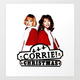 Coronation Street Christmas Art Print