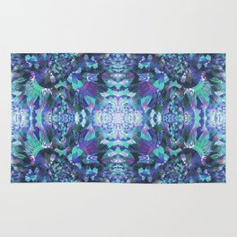 Abstract Floral Burst Rug