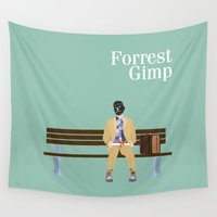 forrest Wall Tapestries featuring FORREST GIMP by Ian O'Hanlon