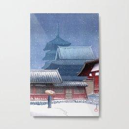 Tenno-ji, Ōsaka by Hasui Kawase Metal Print