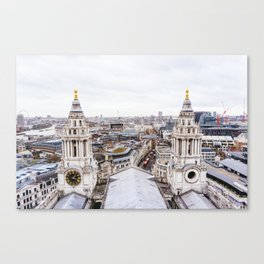 City View over London from St. Paul's Cathedral Canvas Print