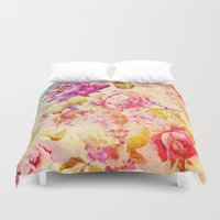 dancing Duvet Covers featuring dancing flowers by clemm