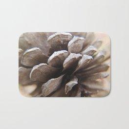 Macro Pine Cone Bath Mat
