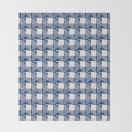 SEVILLE GINGHAM BLUE Throw Blanket