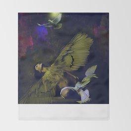 The revelation of the angel Throw Blanket