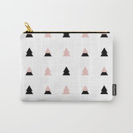 Black and rose christmas trees Carry-All Pouch
