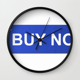 Buy Now Blue Wall Clock