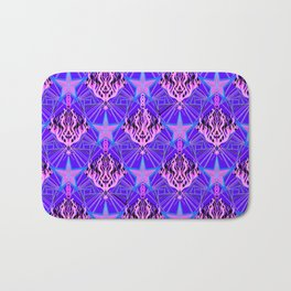 Starfire Kaleidoscope (Cotton Candy Star) Bath Mat