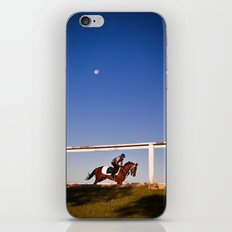 A rider and a horse iPhone & iPod Skin