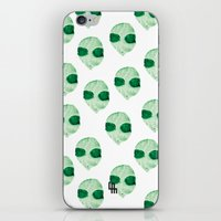 aliens iPhone & iPod Skins featuring aliens by LuisaMaria