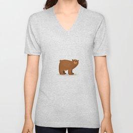 Cute Bear Unisex V-Neck