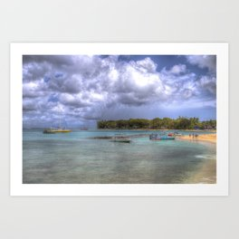 Barbados Summer Beach Art Print