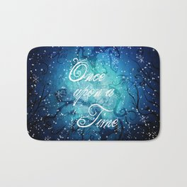 Once Upon A Time ~ Winter Snow Fairytale Forest Bath Mat