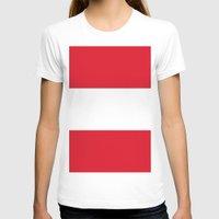 peru T-shirts featuring Flag of Peru by Neville Hawkins