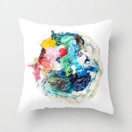 Rainbow Earth Paint Moon Love Throw Pillow