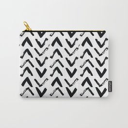 Black & White Mud Cloth Inspired Arrows Carry-All Pouch