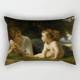 "William-Adolphe Bouguereau ""Tentation (Temptation)"" Rectangular Pillow"