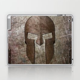 Molon Labe - Spartan Helmet on Riveted steel Laptop & iPad Skin