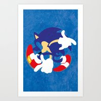 sonic Art Prints featuring Sonic by JHTY