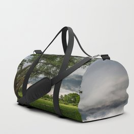 Big Tree - Tall Cottonwood and Passing Storm in Texas Duffle Bag