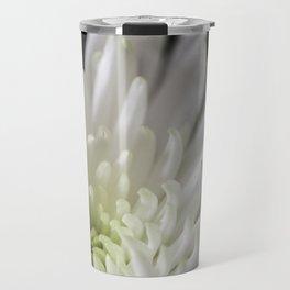 white and green chrysanthemum Travel Mug