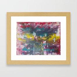 Abstract Red Fluid Art Framed Art Print