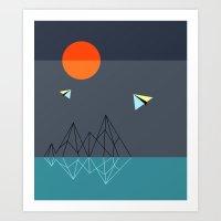 geo plane Art Print