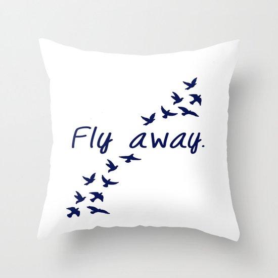 Fly Away. Throw Pillow