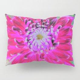 Crimson and Pink Cactus Dahlia Explosion Pillow Sham
