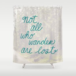 Time to Wander Shower Curtain