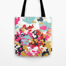 Inez - Modern Abstract painting in bold colors for trendy modern feminine gifts ideas  Tote Bag