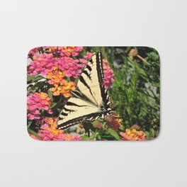 Swallowtail on Lantana Bath Mat
