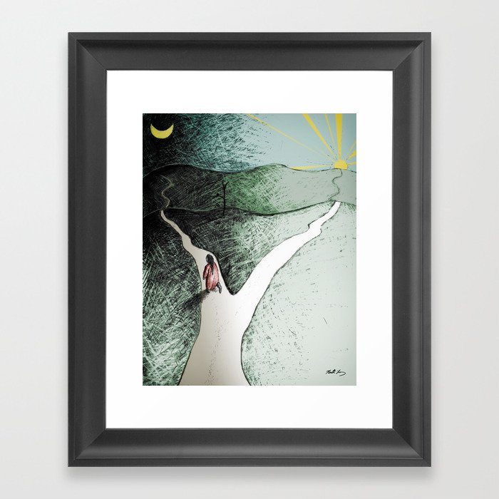 """The Darker Path - From """"Helpers"""" Framed Art Print"""