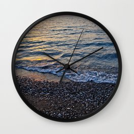 Sunset in Rhodes Wall Clock